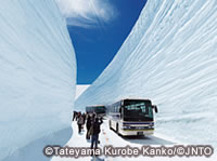 """Snow Walls"" at Otani can be seen around mid-April to late May."